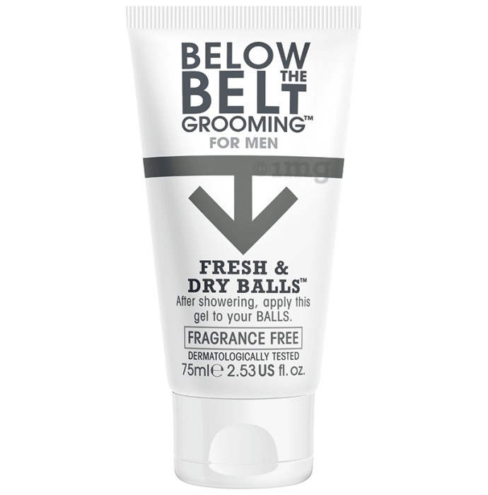 Below the Belt Grooming for Men Fresh and Dry Balls Gel Fragrance Free