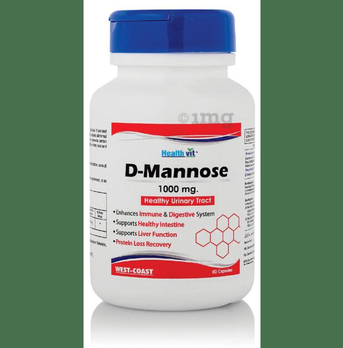 HealthVit D-Mannose 1000mg Capsule