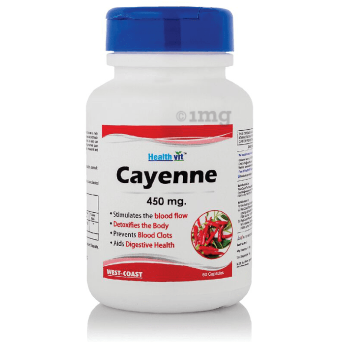 HealthVit Healthvit Cayenne 450mg Capsule