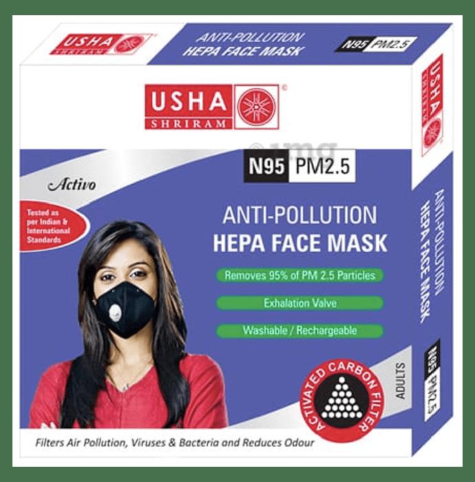 Usha Shriram Activo N95 PM2.5 HEPA Anti Pollution Face Mask