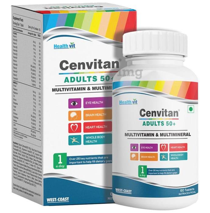 HealthVit Cenvitan Adults 50+ Multivitamin and Multimineral Tablet
