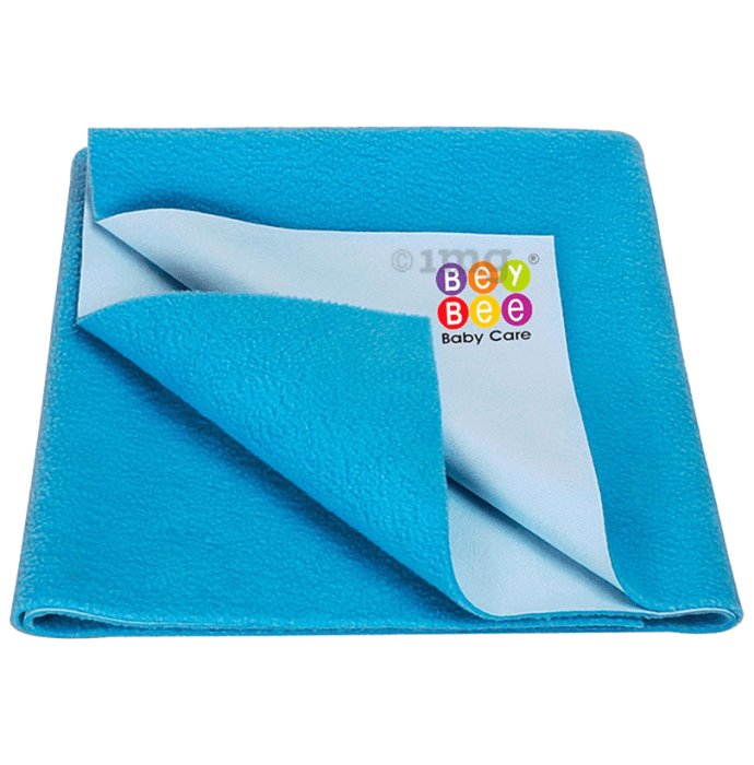 Bey Bee Waterproof Baby Bed Protector Dry Sheet for New Born Babies (70cm X 50cm) Small Firoza