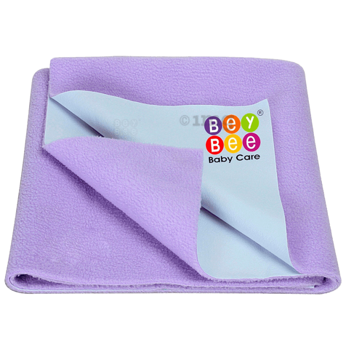 Bey Bee Waterproof Baby Bed Protector Dry Sheet for New Born Babies (70cm X 50cm) Small Violet