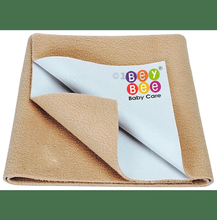 Bey Bee Waterproof Baby Bed Protector Dry Sheet for Toddlers (100cm X 70cm) Medium Beige
