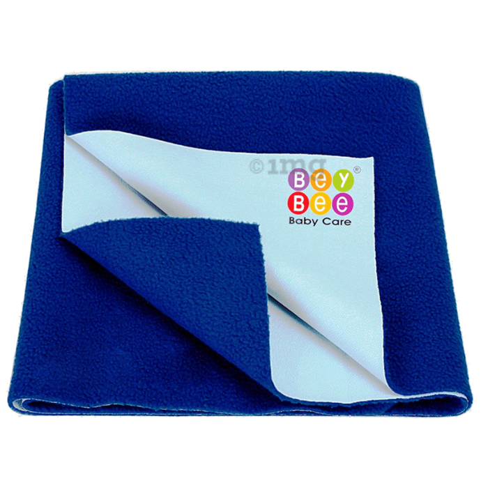 Bey Bee Waterproof Baby Bed Protector Dry Sheet for Toddlers (100cm X 70cm) Medium Royal Blue