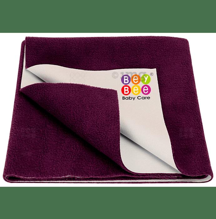 Bey Bee Waterproof Baby Bed Protector Dry Sheet for Toddlers (100cm X 70cm) Medium Plum