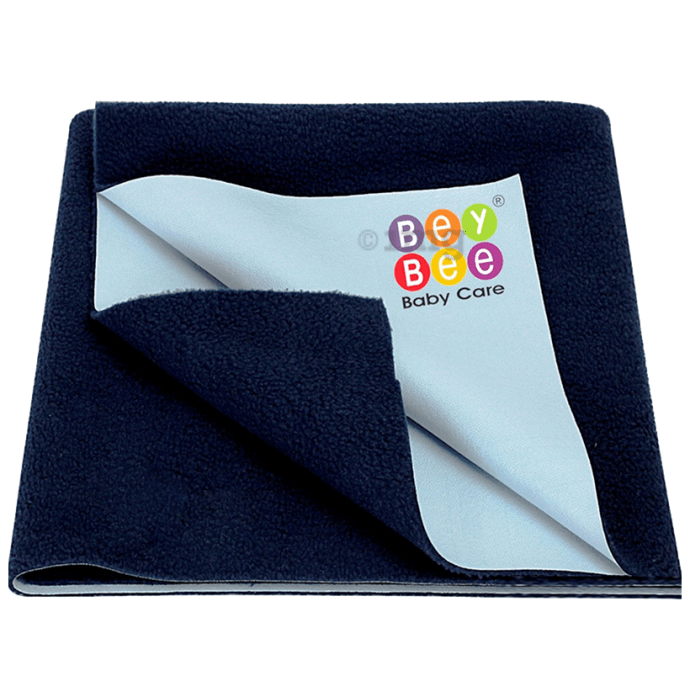 Bey Bee Waterproof Mattress Protector Sheet for Babies and Adults (140cm X 100cm) Large Navy Blue