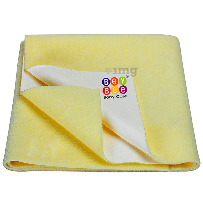Bey Bee Waterproof Baby Bed Protector Dry Sheet for Toddlers (100cm X 70cm) Medium Yellow