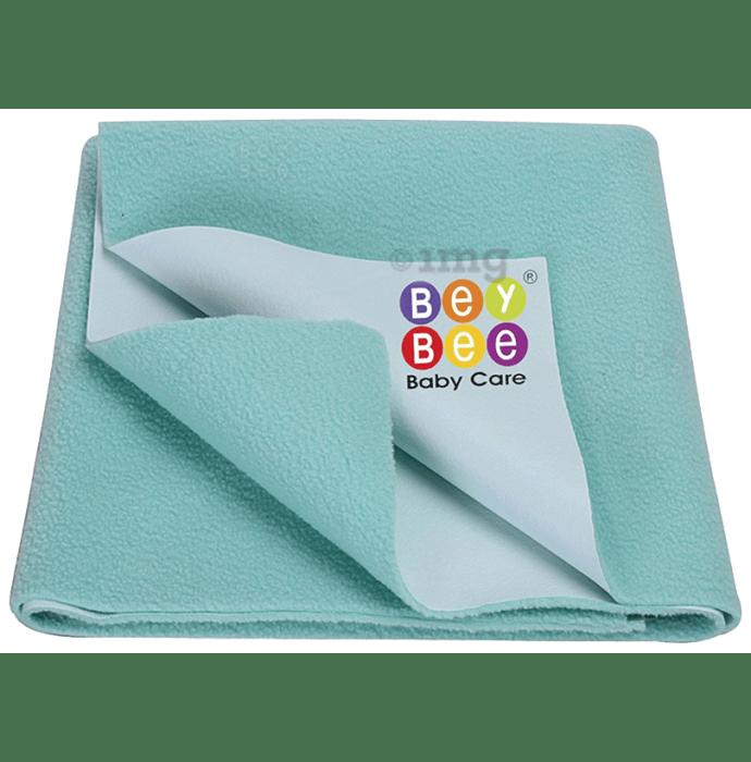 Bey Bee Waterproof Baby Bed Protector Dry Sheet for Toddlers (100cm X 70cm) Medium Sea Green