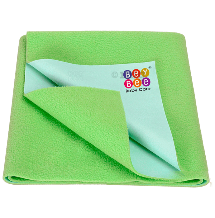 Bey Bee Waterproof Mattress Protector Sheet for Babies and Adults (140cm X 100cm) Large Light Green