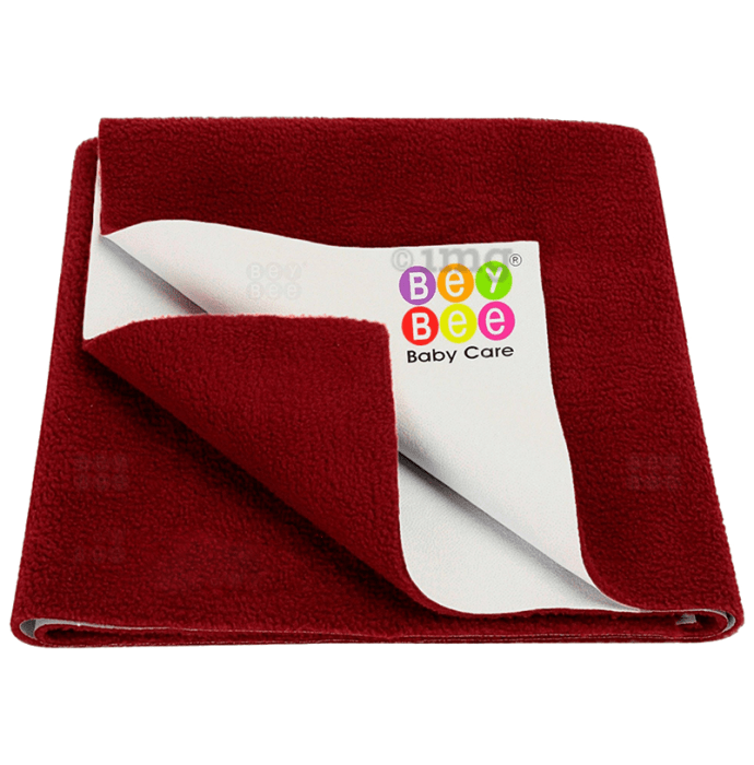 Bey Bee Waterproof Mattress Protector Sheet for Babies and Adults (140cm X 100cm) Large Maroon