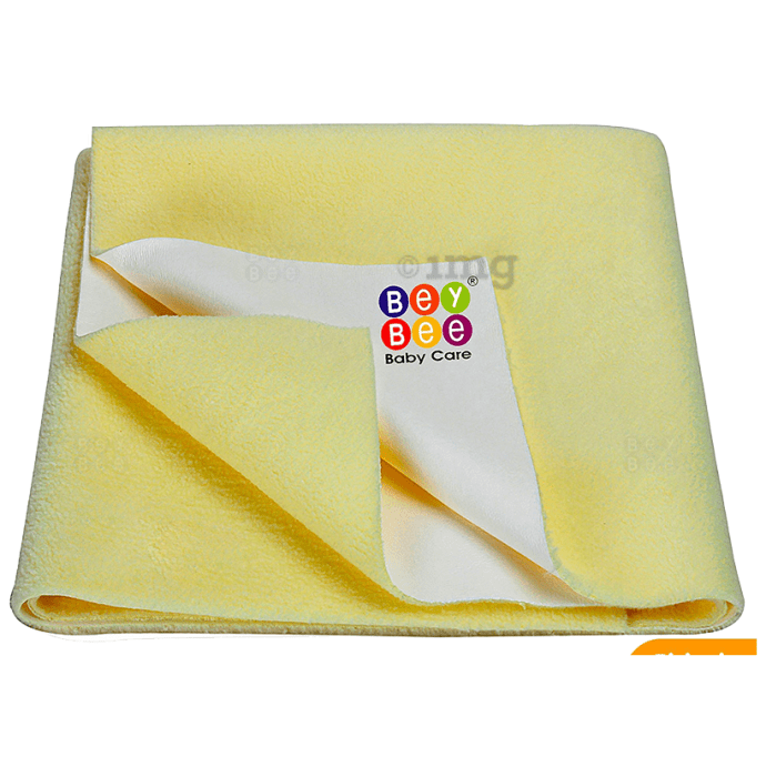 Bey Bee Waterproof Mattress Protector Sheet for Babies and Adults (140cm X 100cm) Large Yellow