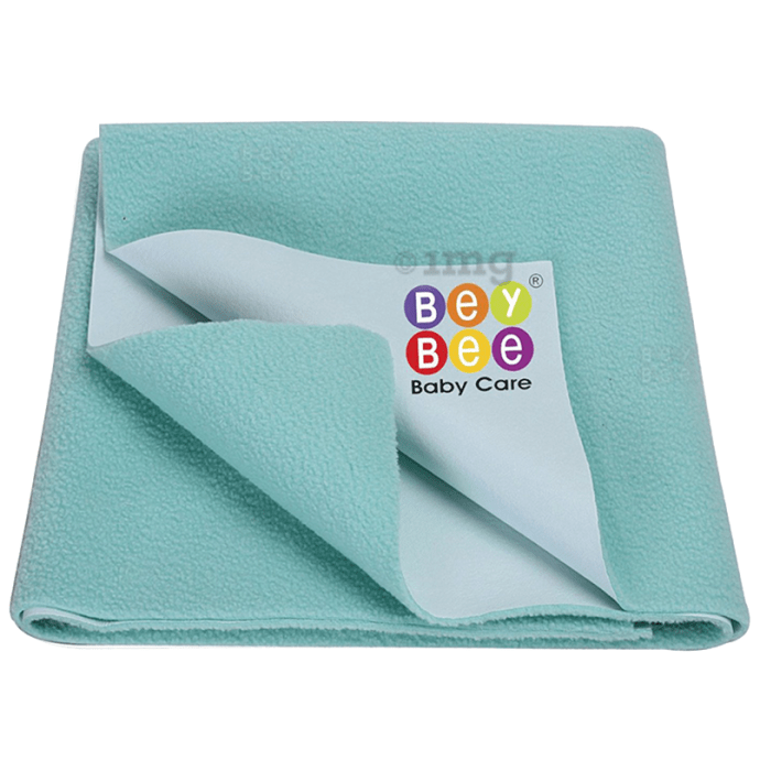 Bey Bee Waterproof Mattress Protector Sheet for Babies and Adults (140cm X 100cm) Large Sea Green