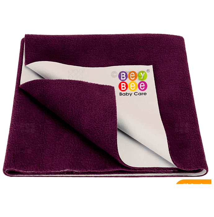 Bey Bee Waterproof Mattress Protector Sheet for Babies and Adults (140cm X 100cm) Large Plum