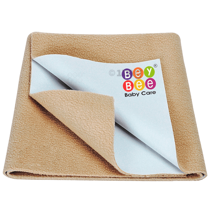 Bey Bee Waterproof Mattress Protector Dry Sheet for Babies and Adults (200cm X 140cm) Sheet XL Beige