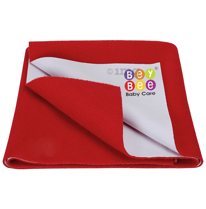 Bey Bee Waterproof Mattress Protector Dry Sheet For Babies and Adults (200cm X 140cm) Sheet XL Red