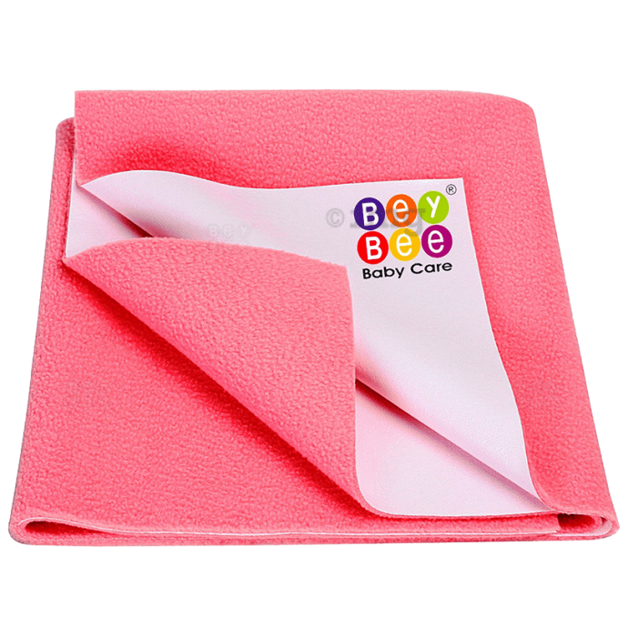 Bey Bee Waterproof Mattress Protector Dry Sheet for Babies and Adults (200cm X 140cm) Sheet XL Salmon Rose
