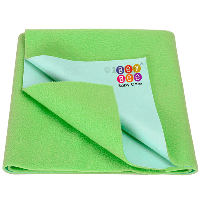 Bey Bee Waterproof Mattress Protector Dry Sheet for Babies and Adults (200cm X 140cm) Sheet XL Light Green