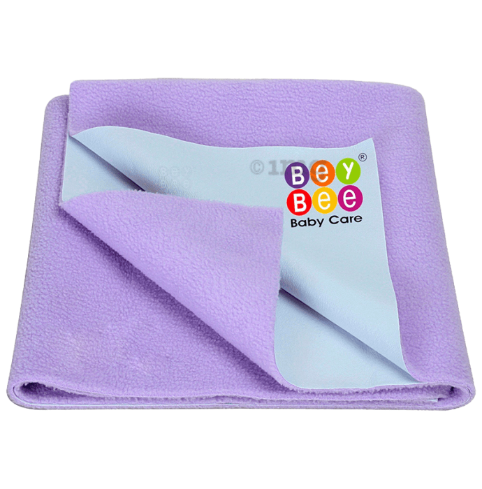 Bey Bee Waterproof Mattress Protector Dry Sheet for Babies and Adults (200cm X 140cm) Sheet XL Purple