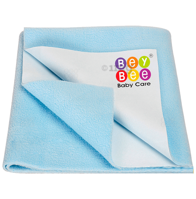 Bey Bee Waterproof Mattress Protector Dry Sheet for Babies and Adults (200cm X 140cm) Sheet XL Sea Blue