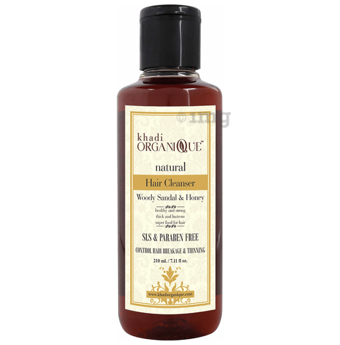 Khadi Organique Natural Shampoo Woody Sandal and Honey SLS Paraben Free