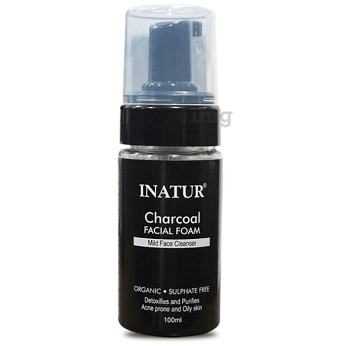 Inatur Facial Foam Charcoal