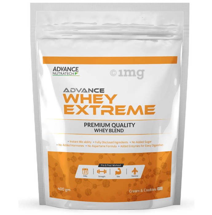 Advance Nutratech Whey Extreme Protein Powder Cream and Cookie