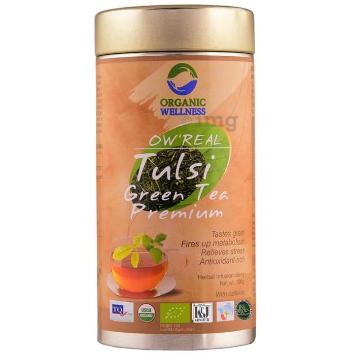 Organic Wellness OW' Real Tulsi Herbal Infusion Blend Green Tea Premium