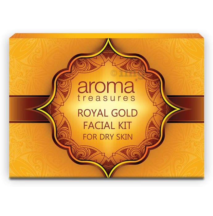 Aroma Treasures Royal Gold Facial Kit Single Time Use for Dry Skin