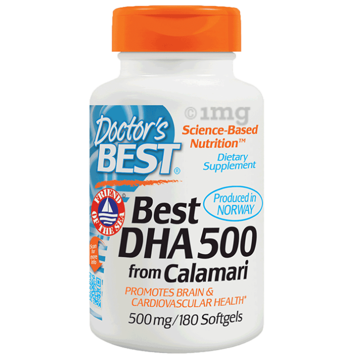 Doctor's Best DHA 500 from Calamari