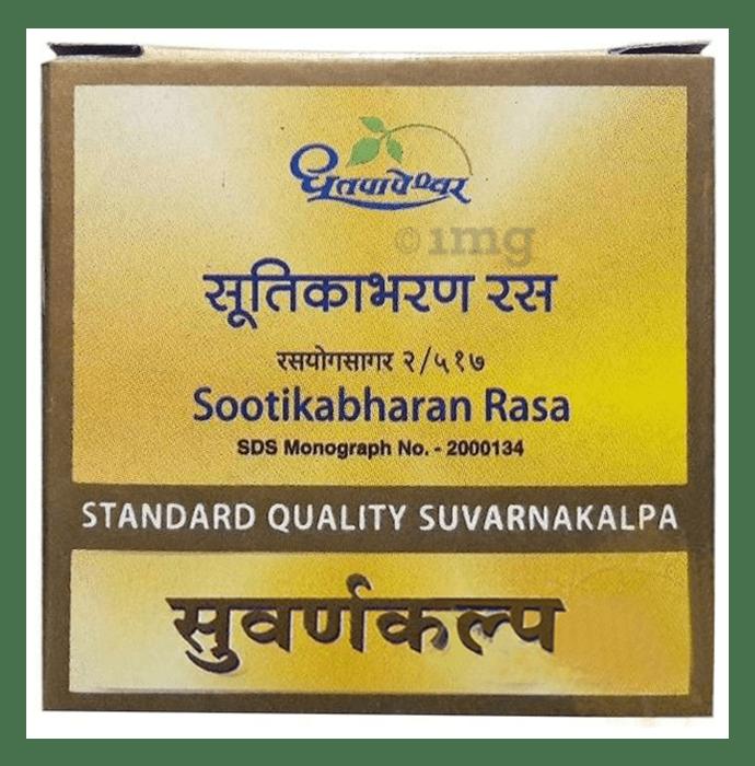 Dhootapapeshwar Sootikabharan Rasa Standard Quality Suvarnakalpa Tablet