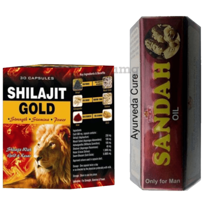 G & G Pharmacy Shilajit Gold 30 Capsule & Sandha Oil 15ml