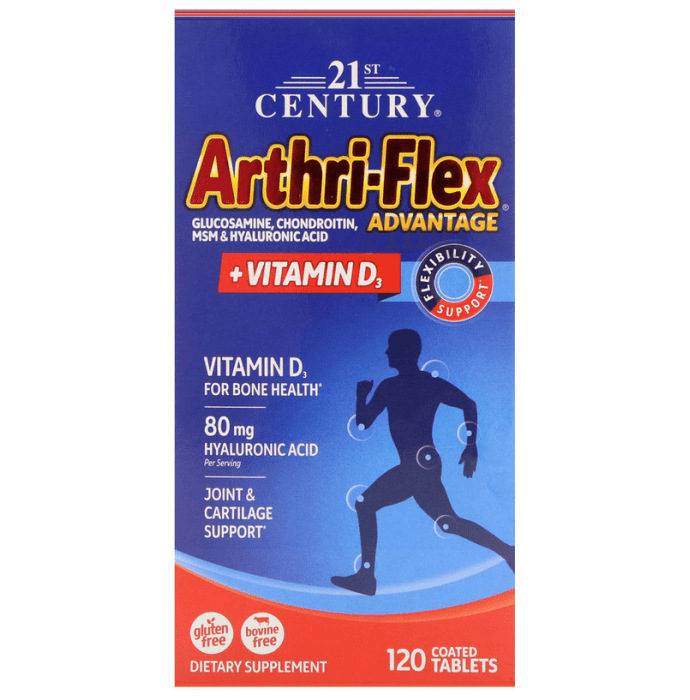 21st Century Arthri-Flex Advantage + Vitamin D3 Coated Tablet