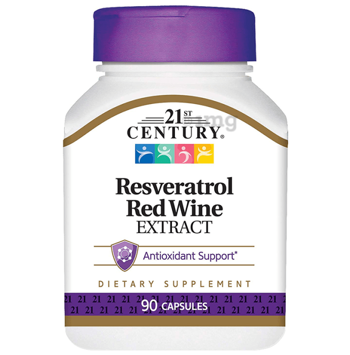 21st Century Resveratrol Red Wine Extract Capsule