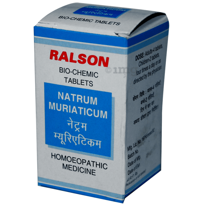 Ralson Remedies Natrum Muriaticum Biochemic Tablet 3X
