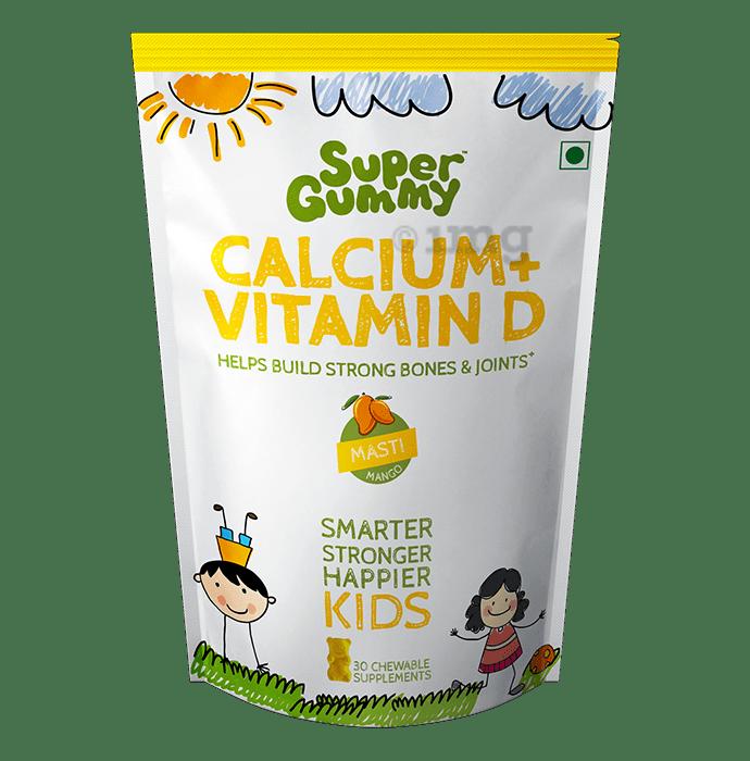 Super Gummy Calcium + Vitamin D Chewable Supplement Masti Mango