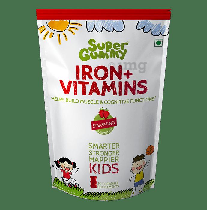 Super Gummy Iron + Vitamins for Kids Smashing Strawberry