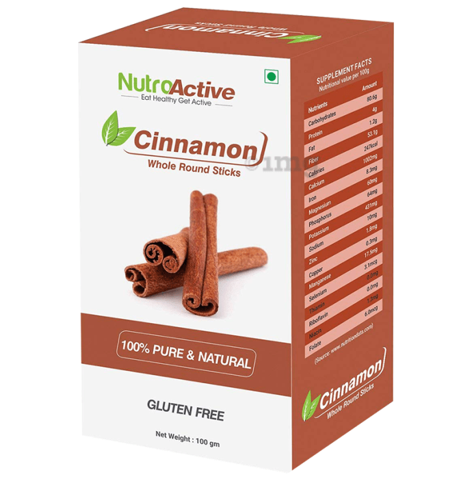 NutroActive Cinnamon Whole Round Sticks