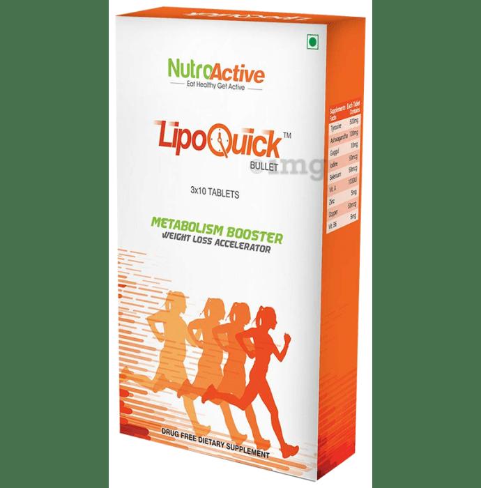 NutroActive Lipoquick Bullet Fat Burner Tablet