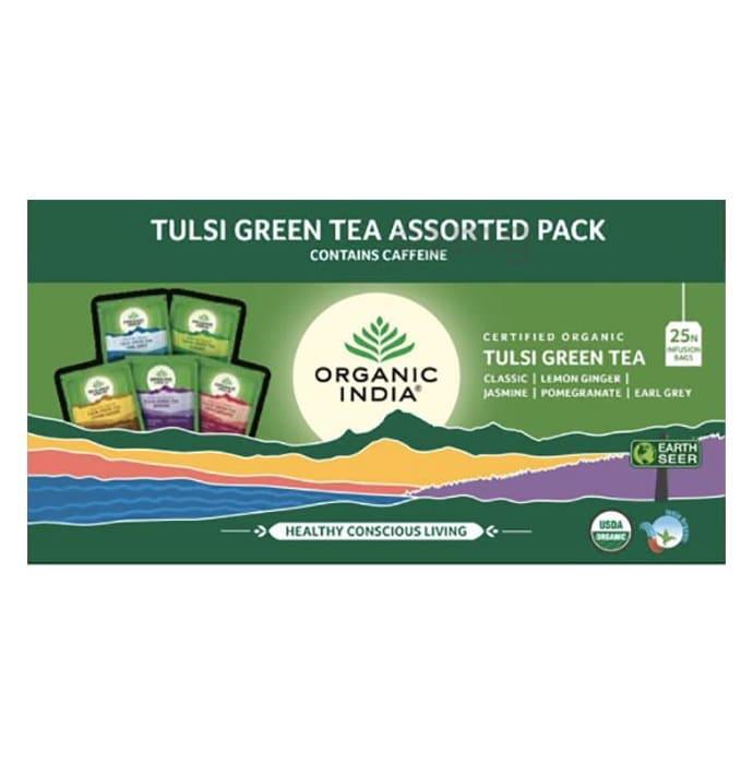 Organic India Tulsi Green Tea Assorted
