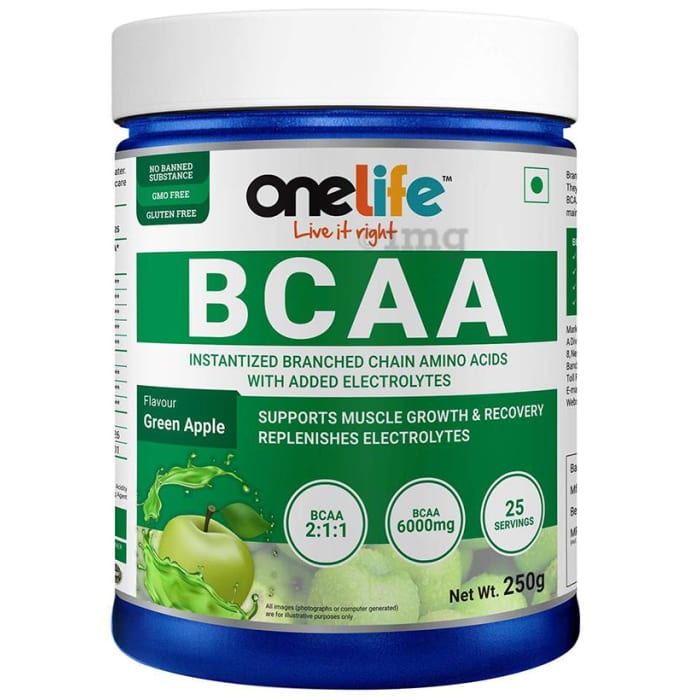 OneLife BCAA Powder Green Apple