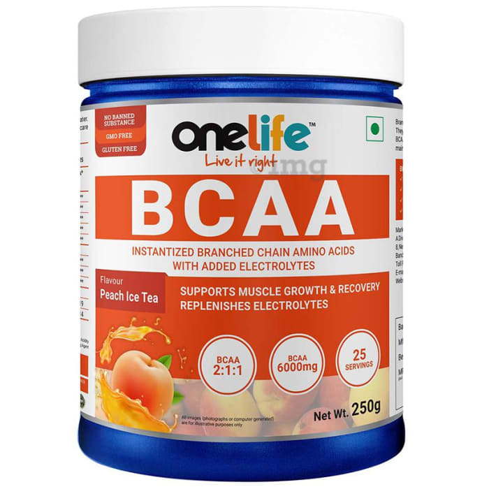 OneLife BCAA Powder Peach Ice Tea