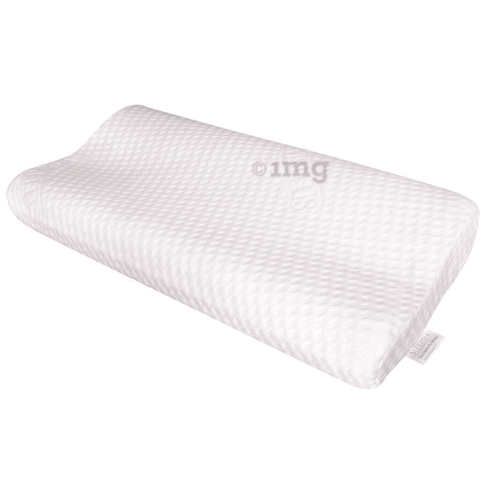 Sleepsia Medium Visco Memory Foam Pillow White