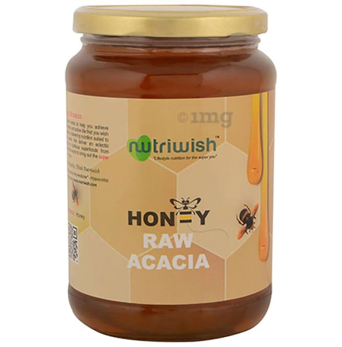 Nutriwish 100% Pure Organic Honey Raw Acacia