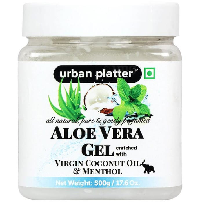 Urban Platter Aloe Vera Gel Enriched with Virgin Coconut Oil and Menthol