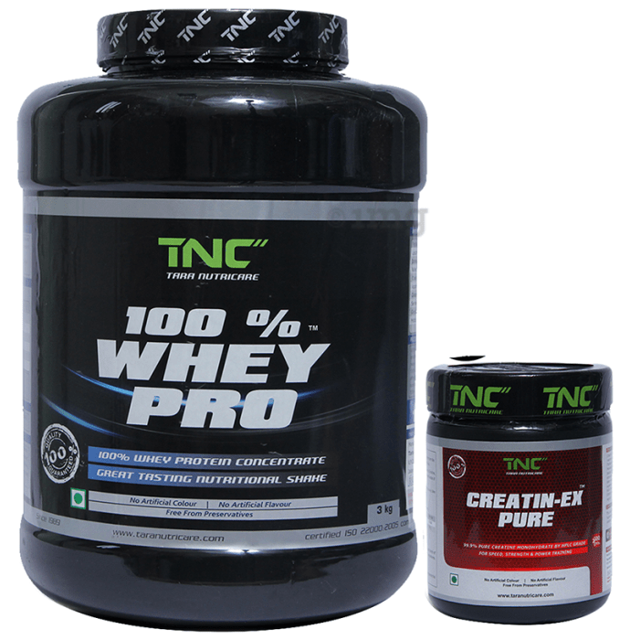 Tara Nutricare 100% Whey Pro Whey Protein Concentrate Powder American Ice Cream with Creatin-Ex Pure Free