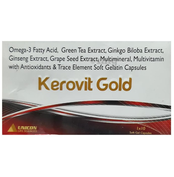 Kerovit Gold Soft Gelatin Capsule