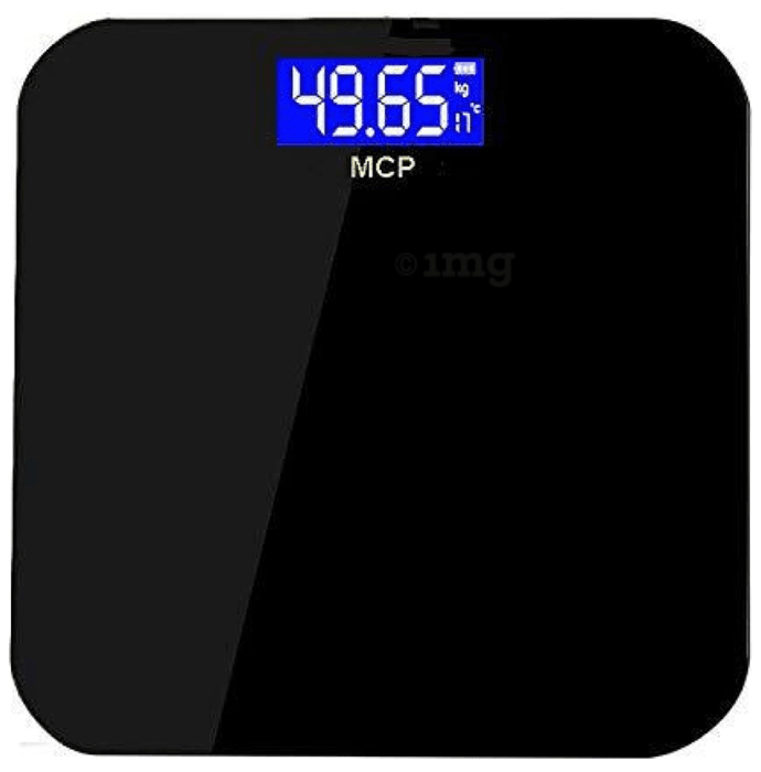 MCP Weighing Scale Human Body Weight Machine Digital (LED) with Battery & Temperature Indicator
