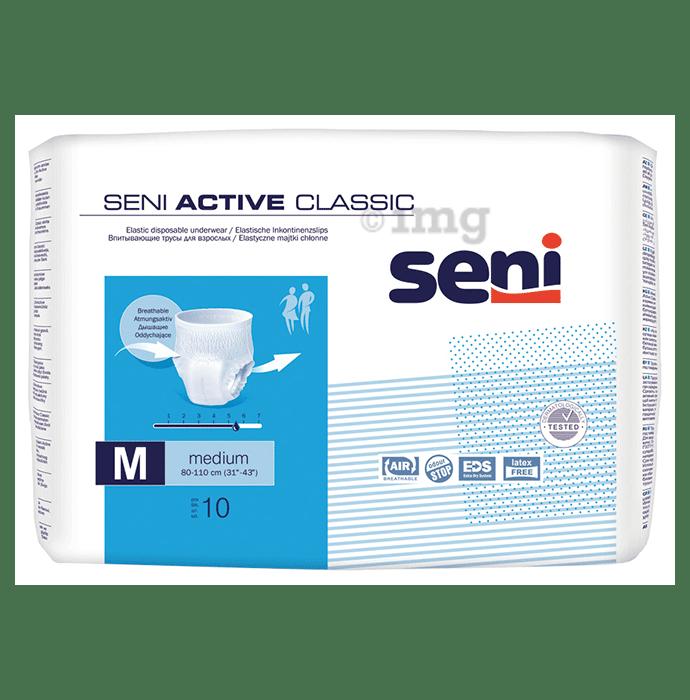 Seni Active Classic Elastic Disposable Underwear Medium