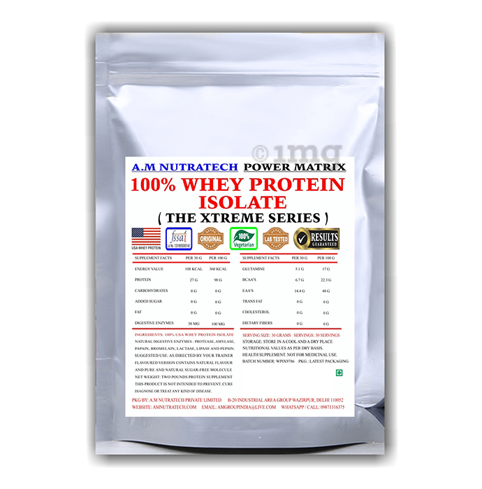 A.M Nutratech 100% Whey Protein Isolate The Xtreme Series